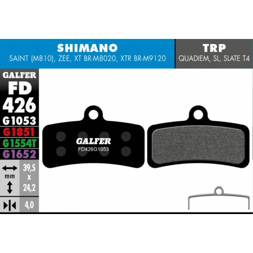 Galfer SHIMANO FD426(5párů)